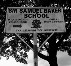 The school sign.