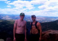 At the summit of Bear Peak, part of the Flat Irons near Boulder, CO.