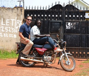 A Boda Boda -- How I got to and from school everyday.