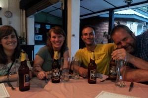 My first Nile Beer in Uganda