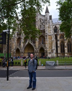 Me at Westminster Abbey on the day I found out my dad died.