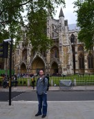 I am about to enter West Minster Abbey..this is from the day I found out my dad died.