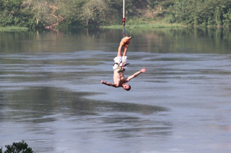 Bungee Jumping on the Nile River!