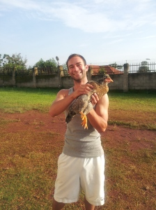 I chased this chicken for about five straight minutes before I finally caught it!
