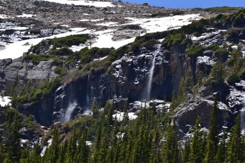 Waterfalls past Fern Lake - Rocky Mountain National Park