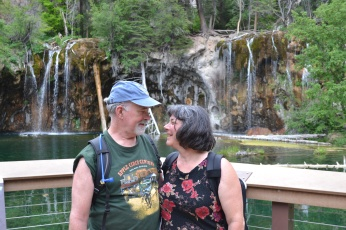My mother and her boyfriend and Hanging Lake
