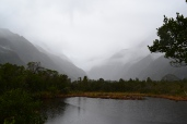 A cool shot of a pond near Franz Josef Glacier