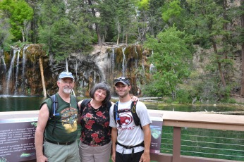 Although it is off center (random stranger photographer), I still thought I'd throw this one on here. I am with my mom and her boyfriend at Hanging Lake