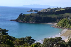 A view of one of the many beaches at Waiheke Island.