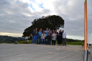 The group from the wine tour at Waiheke
