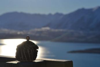 Dad's Ashes at the top of Mt John - Lake Tekapo